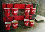 Springside N9  Fire Buckets & Stands (2 Sets)